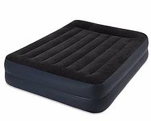 Двуспальная надувная кровать Intex 64124 Pillow Rest Raised Bed (152x203x42 см) + встроенный электронасос 220V