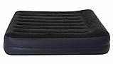Двуспальная надувная кровать Intex 64124 Pillow Rest Raised Bed (152x203x42 см) + встроенный электронасос 220V, фото 2