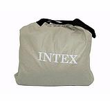 Двуспальная надувная кровать Intex 64124 Pillow Rest Raised Bed (152x203x42 см) + встроенный электронасос 220V, фото 3