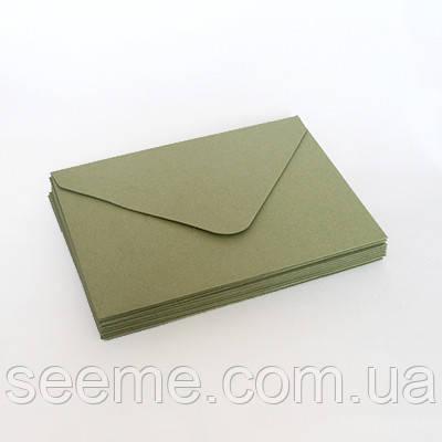 Конверт 175x125 мм, колір зелений чай