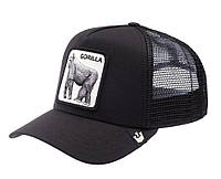 Кепка бейсболка Тракер с сеткой Goorin Brothers Bros Animal Farm Gorilla Горилла Черная