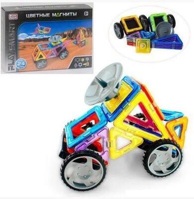 Магнитный цветной конструктор Play Smart 2465