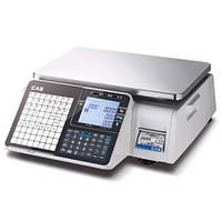 Весы торговые с печатью этикетки CAS CL-3500-J-IB
