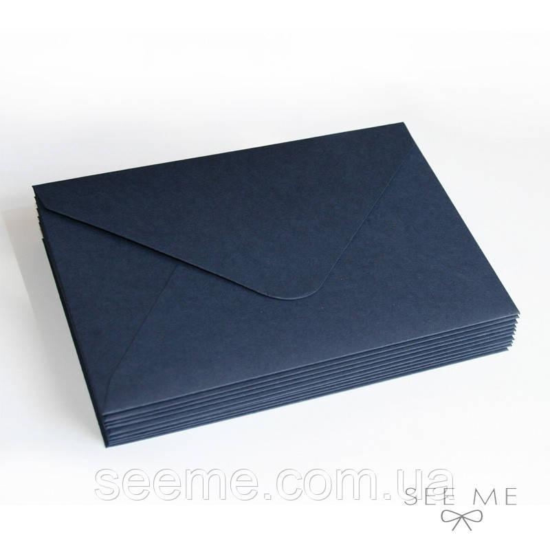 Конверт 175x125 мм, цвет темно-синий (navy blue)