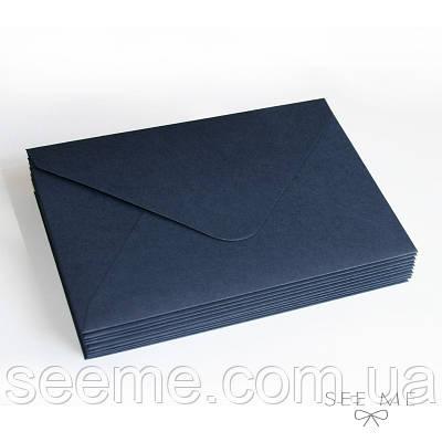 Конверт 175x125 мм, колір темно-синій (navy blue)