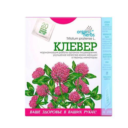 Клевер фиточай Organic Herbs №20 1,5г