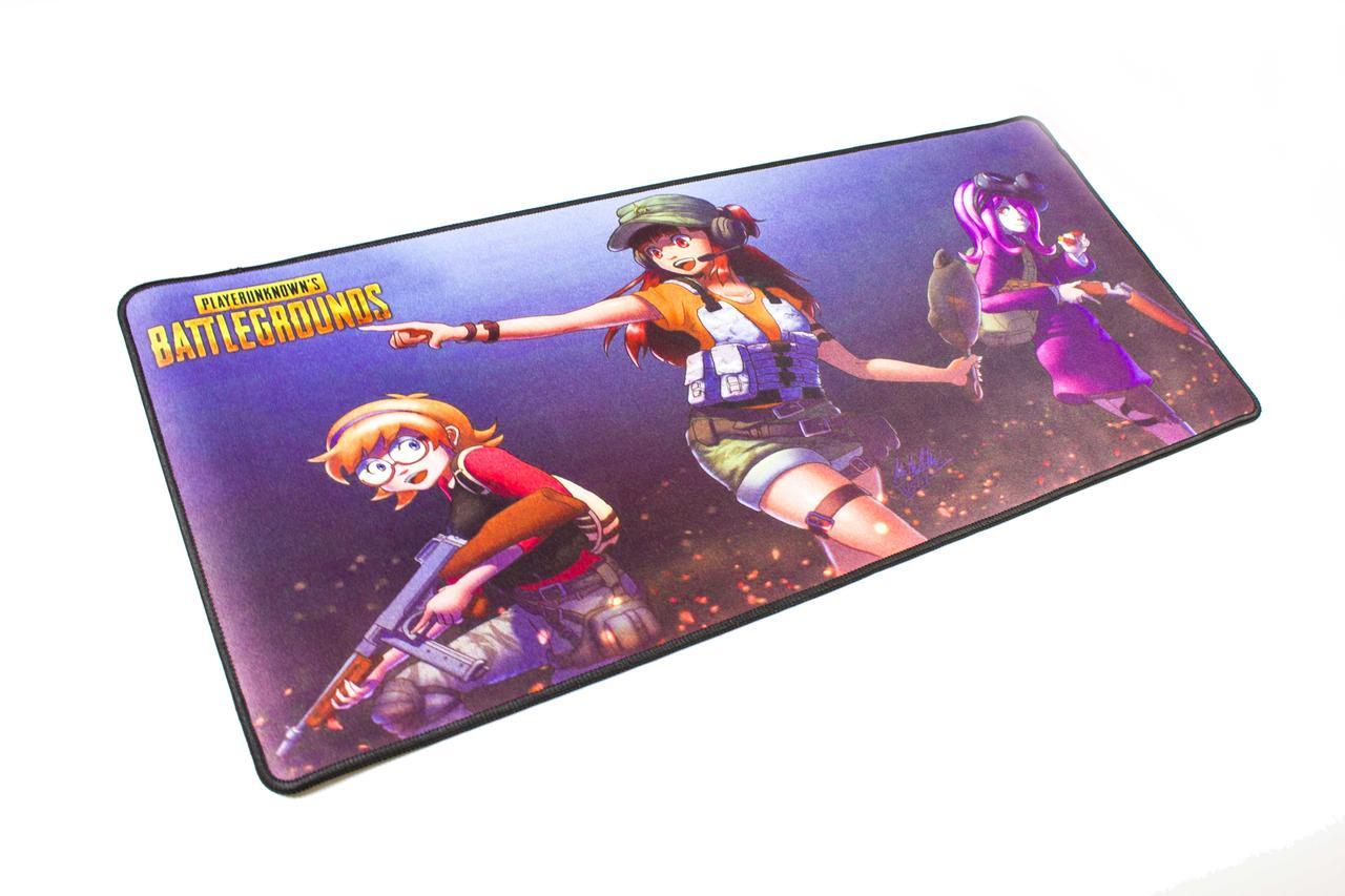 БОЛЬШОЙ геймерский коврик для мышки игровая поверхность  BATTLEGROUNDS MIX R-700 (70х30см)