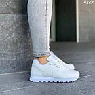 Женские белые кроссовки New balance, натуральная кожа, фото 2