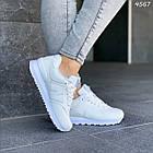 Женские белые кроссовки New balance, натуральная кожа, фото 5