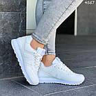 Женские белые кроссовки New balance, натуральная кожа, фото 10