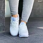 Женские белые кроссовки New balance, натуральная кожа, фото 8