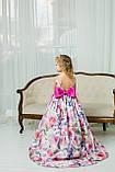 """Модель """"ЕЛІЗАБЕТ"""" - довга атласна сукня зі шлейфом / атласное платья с принтом, фото 3"""