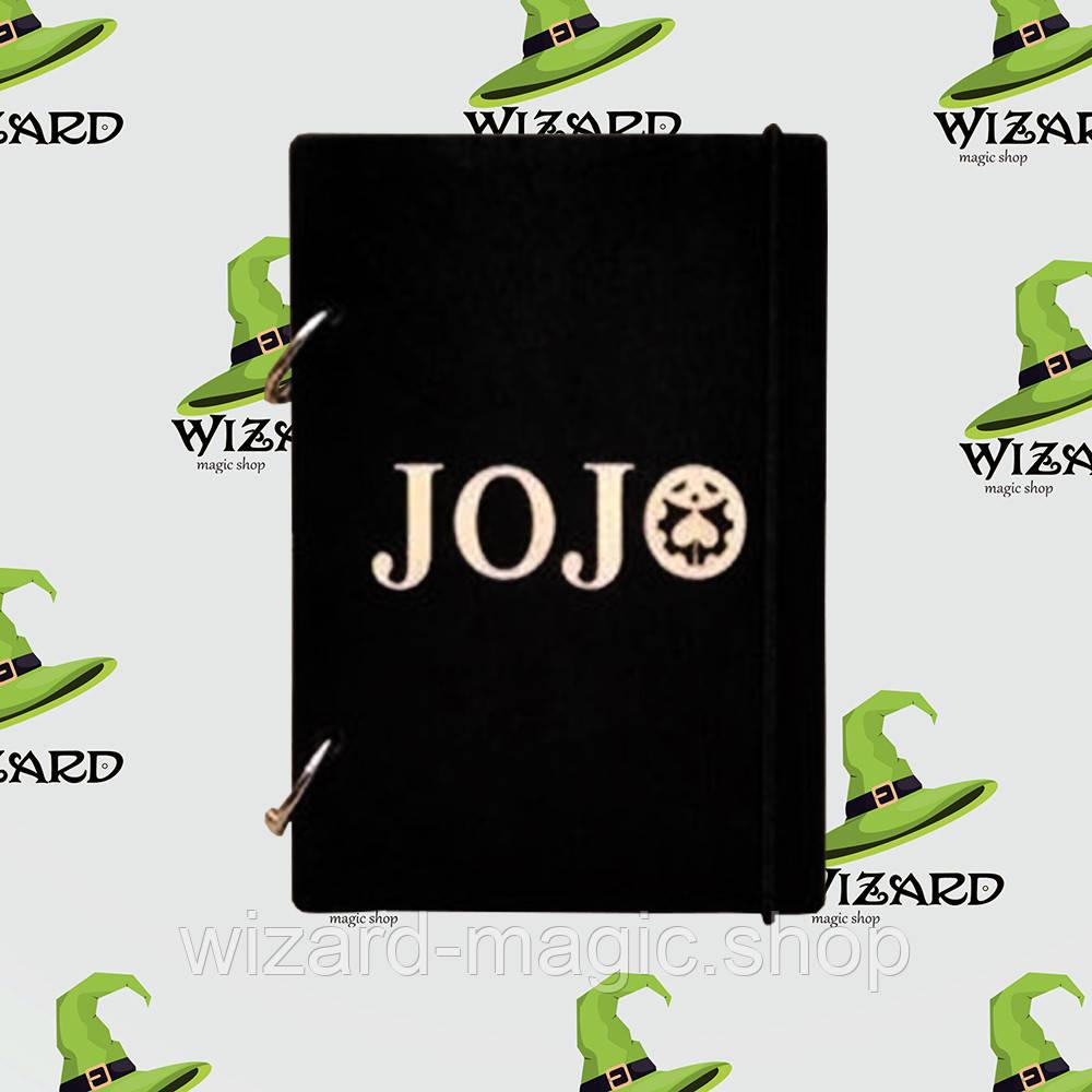 Деревянный блокнот А6 Приключения ДжоДжо (черное дерево)