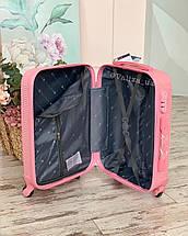Большой пластиковый чемодан мятный на 4 колесах Польша, фото 3