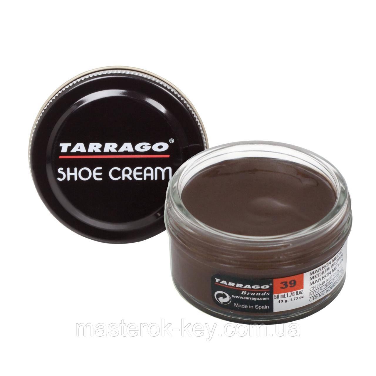 Крем для гладкой кожи Tarrago Shoe Cream 50 мл цвет средний коричневый (39)