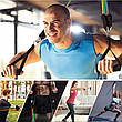 Набор трубчатых эспандеров для фитнеса и упражнений 5 жгутов + Чехол, фото 4