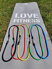 Набор трубчатых эспандеров для фитнеса и упражнений 5 жгутов + Чехол, фото 3