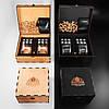 Камни для виски подарочный деревянный набор с бокалами. Кубики для охлаждения виски Темная коробка + 2 шт Бокала Bohemia Barline 300 мл, фото 4