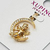 Кулон Xuping Янголятко красивий оригінальний золотистий в стразах G-1153