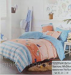 Детский комплект постельного белья сатин байка полуторка