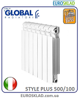 Радиатор биметаллический GLOBAL STYLE PLUS 500/100. Италия.