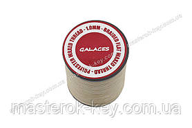 Galaces 1.00мм бежевый (S006) плоский шнур вощёный по коже