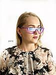 Модные голубые очки в фиолетовой оправе miu miu, фото 2
