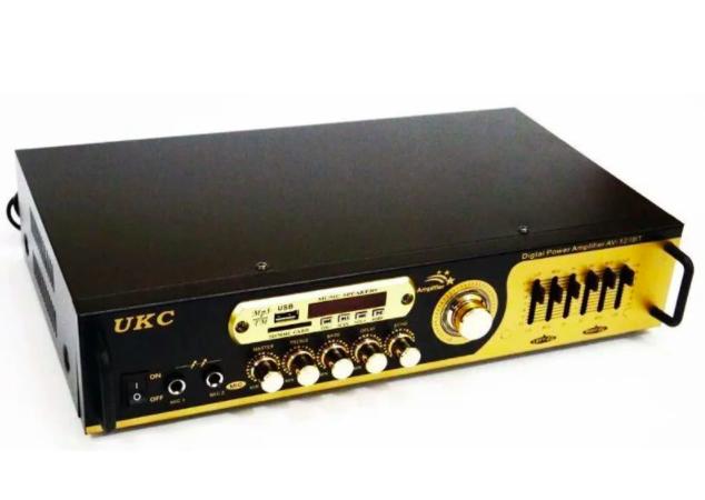 Купить Усилитель звука UKC AV-121BT с Bluetooth, USB, FM приёмник, Караоке