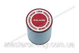 Galaces 1.00мм голубой (S010) плоский шнур вощёный по коже