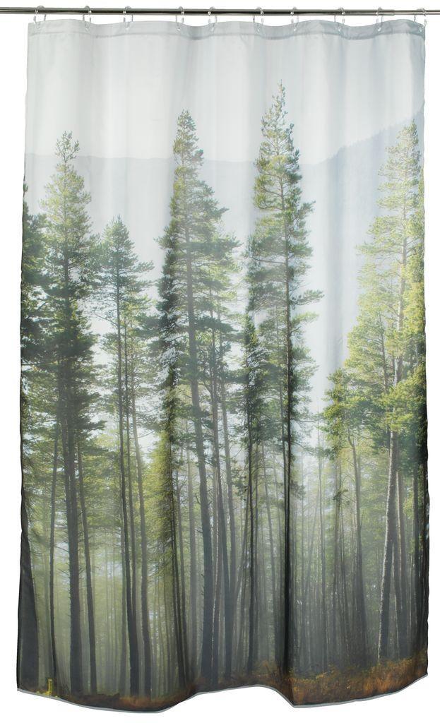Занавеска для душа 150x200см лес