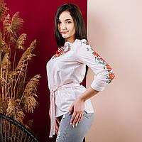 Белая вышитая рубашка женская, Украинская Вышиванка