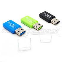 Mini Картридер USB 2.0 microSD Card Reader, фото 3