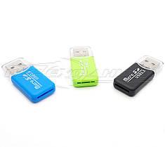 Mini Картридер USB 2.0 microSD Card Reader, фото 2