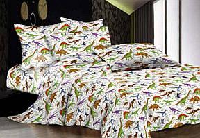 Півтораспальний постільний комплект - Динозаври