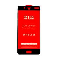Защитное стекло 21D Full Glue для Nokia 8 черное 0,3 мм в упаковке