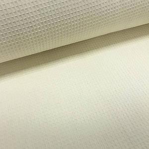 Вафельное полотно плетение клетка, цвет светло-бежевый (шир. 2,40 м) ОТРЕЗ (1,28*2,4) УЦЕНКА