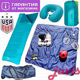 Спальный мешок одеяло, спальник туристический летний Pavillo (спальний мішок літній) подушка надувная дорожная
