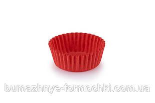 Бумажные одноразовые формочки для конфет, красные