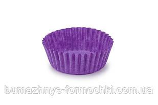 Бумажные одноразовые формочки для конфет, фиолетовые, 30х16 мм