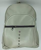 #0921 Рюкзак женский  эко кожа  серый
