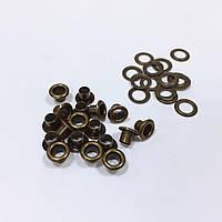 Люверсы стальные №02 4мм цв антик (уп 100шт)