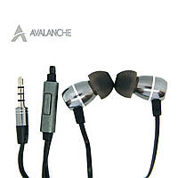 Наушники для телефона проводные вакуумные с микрофоном, гарнитурой, AVALANCHE MP3-502