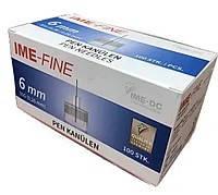 Голки IME-FINE (ІМЕ-ФАЙН) 31G для шприц-ручок, 6 мм, 100 шт.