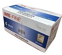 Иглы IME-FINE (ИМЕ-ФАЙН) 31G для шприц-ручек, 6 мм, 100 шт.