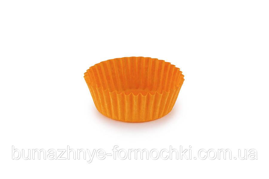 Бумажные одноразовые формочки для конфет, оранжевые