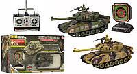 Игровой набор - танк с мишенью, 29 см,  на радиоуправлении, с ПУ, стреляет шариками, Модель YH4101D, фото 1