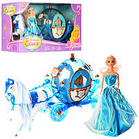 Музична карета 218А з лялькою, конячка ходить, звуковий супровід