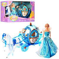 Музыкальная карета 218А с куклой, лошадка ходит, звуковое сопровождение