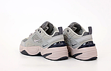 Женские кроссовки Nike Tekno M2K в стиле найк текно СЕРЫЕ (Реплика ААА+), фото 3