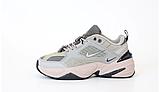 Женские кроссовки Nike Tekno M2K в стиле найк текно СЕРЫЕ (Реплика ААА+), фото 4